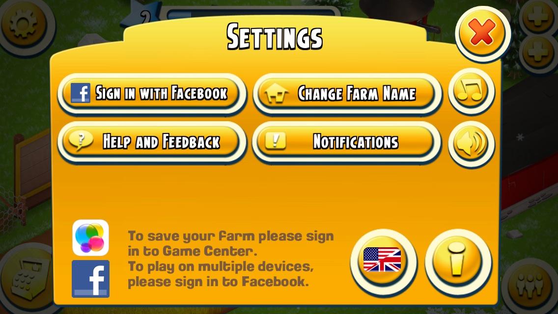 hay day farm game center